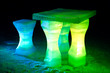 Detalii fotografie Ice sculpture of a table and chairs