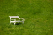 Detalii fotografie Spring and summer - White romantic bench in meadow