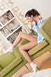Detalii fotografie Students - Female teenager having cup of coffee,