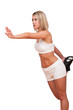 Detalii fotografie Fitness series - Blond woman exercising
