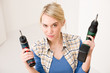 Detalii fotografie Home improvement - woman with battery screwdriver