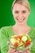 Detalii fotografie Healthy lifestyle - woman holding vegetable salad