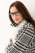 Detalii fotografie Designer glasses - winter fashion woman portrait