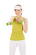 Image details Fitness teenager woman with dumbbell
