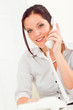 Image details Professional businesswoman attractive calling
