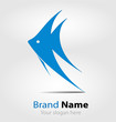 Blue fish brand logo/logotype