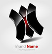 Abstract glossy brand logo/logotype