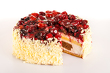 Detalii fotografie Dessert light creamy cake with red berries