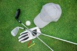 Detalii fotografie golf equipment on green grass