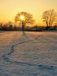 Detalii fotografie beautiful winter sunset on the frozen lake