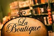 Detalii fotografie board at the store in antique style with the word boutique