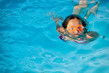 Detalii fotografie girl and swimming in pool
