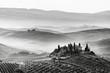 Details der Fotografie tuscan  landscape and wellknown house  belvedere