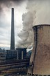 Dettagli della fotografia heavy smoke from industrial chimney polluting the environment