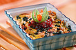Detalii fotografie baked pasta with quark and cranberries