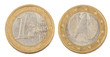 A fényképek részletei front and back of one euro coin isolated on white background