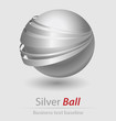 Image details silver ball elegant icon for creative design
