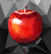 Detalii fotografie abstract polygon background with apple for creative design