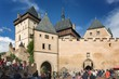 A fényképek részletei view of the castle karlstejn czech republic built by holy roman emperor charles iv in the 14th century photo shoot august 16 2014