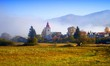 Detalii fotografie Autumn, harvest, meadow, villages and mountains. Great Fatra, Slovakia.