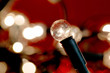 Image details photo of white christmas lights background with shallow focus