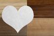 Detalii fotografie valentines snow hearts on a wooden background  valentines day  day valentine postcard with space for text