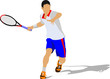 A fényképek részletei tennis player colored vector illustration