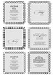 Details der Fotografie collection of ornate vintage vector frames with sample text perfect as invitation or announcement all pieces are separate easy to change colors and edit eps 10 vector