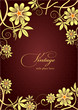 Details der Fotografie gold ornament on brown background can be used as invitation card or cover vector illustration