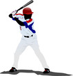 Detalii fotografie baseball player vector illustration