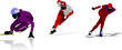 Detalii fotografie skating sport silhouettes vector illustration