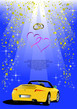 Dettagli della fotografia blue valentines day background with car image