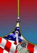 Detalii fotografie zipper open usa flag with place for text vector illustration