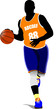 Details der Fotografie basketball players vector illustration