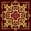 Detalii fotografie gold ornament on brown background can be used as invitation card or cover vector illustration