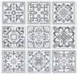 A fényképek részletei decorative finishing ceramic tiles vector illustration