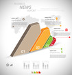 Detalii fotografie business infographic template for interactive data communication