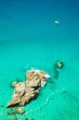 Detalii fotografie small boats on the crystal clear sea  near the town of tropea region calabria  italy