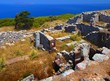 Details der Fotografie Greece, history and excavations. Ancient THERA Santorini.
