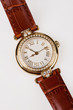 Detalii fotografie wristwatch with leather belt on isolated background