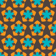 A fényképek részletei seamless ornament pattern vector tile for multipurpose use in design