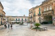 A fényképek részletei ragusa sicily july 26 2016 view of the square in the center of ragusa sicily italy