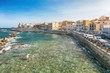 Details der Fotografie panoramic view of the ancient ortigia island syracuse sicily italy