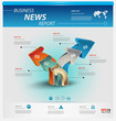 Detalii fotografie business infographic template pack for interactive data communication