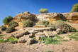 Detalii fotografie ruins entrance of the fifth gate from the south side fortifications porte v agrigento sicily famous valle dei templi