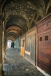 Detalii fotografie the arcade with small shops before opening close to the fish market in venice italy