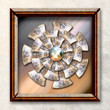 Image details 3d rendering combo artwork with fractal and fractal buttons in elegant frame