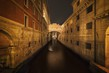 Dettagli della fotografia bridge of sighs in venice italy at the night time