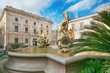 A fényképek részletei diana fountain in the center of siracusa  piazza archimedesyracuse sicily italy sculptures of archimede square beautiful representative picture of sicilian and italian tourism
