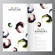 Image details annual business report template design layout